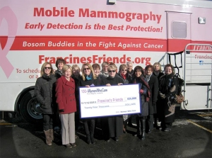 Latest contribution of $24,000 to Francine's Friends